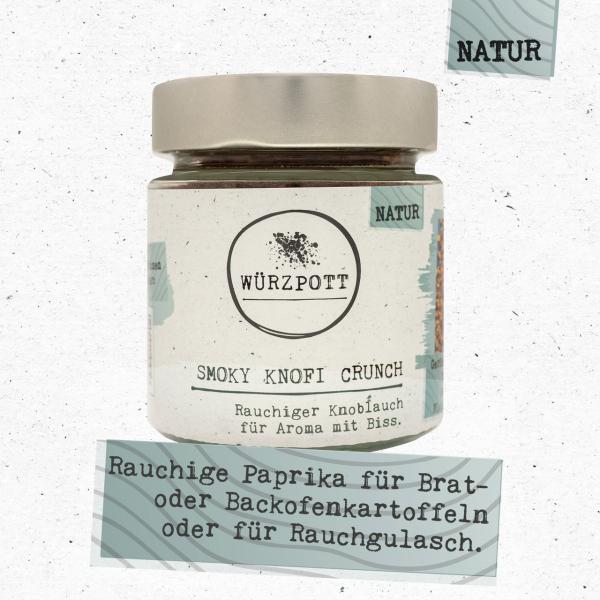 Smoky Knofi Crunch - Rauchiger Knoblauch für Aroma mit Biss.